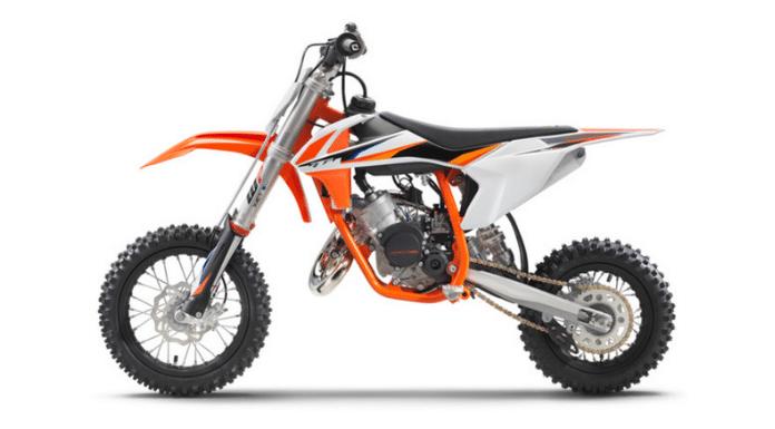 KTM 50 SX Dirt Bike - Left side
