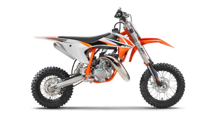 2021 KTM 50 SX Motocross Dirt Bike - right angle